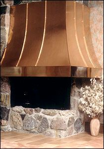 Copper fireplace